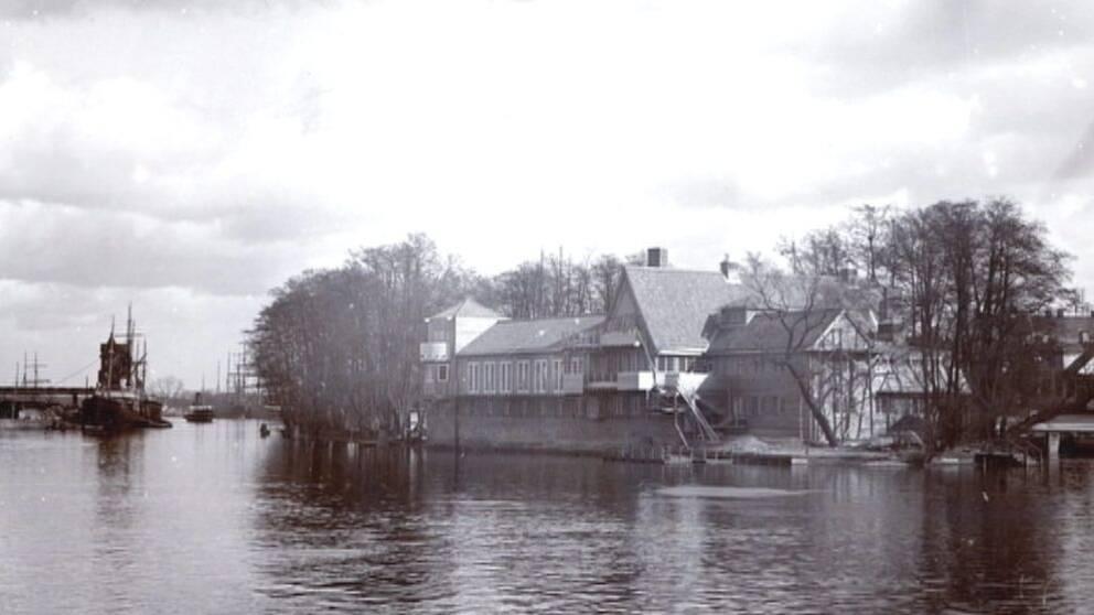 Restaurang på Strömsholmen från Norrköpings stadsarkiv