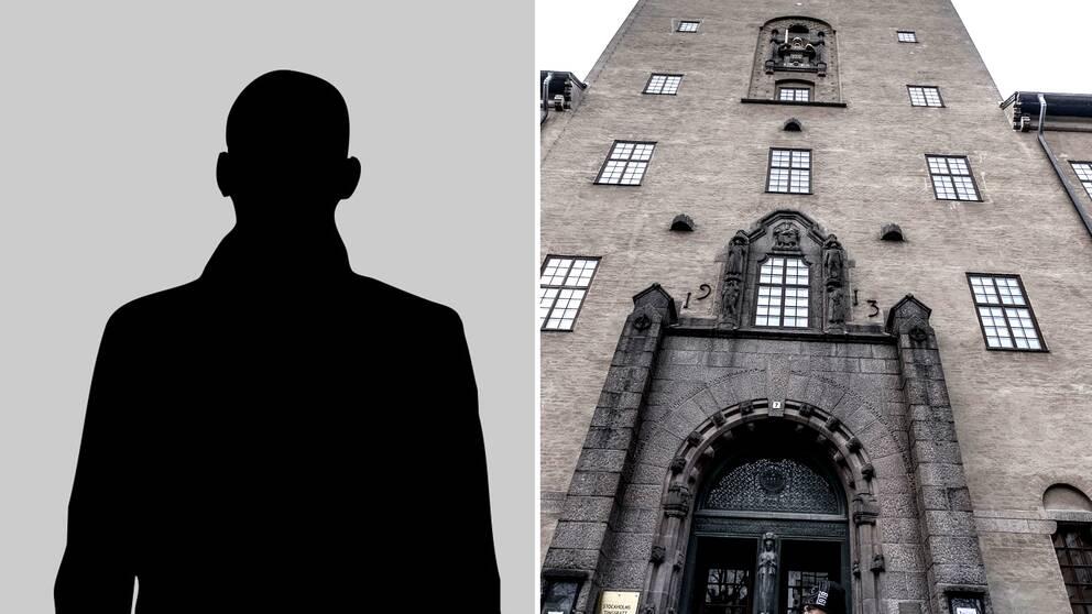 Stockholms tingsrätt och siluett