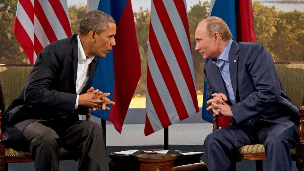 Obama och Putin.