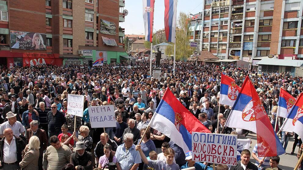 Serberna i Kosovo är upprörda över det nya avtalet.