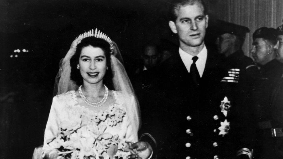 1947. Elizabeth gifter sig med sin Philip.