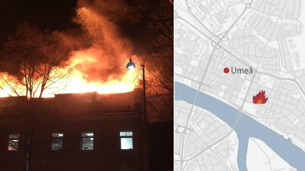 Brand, Umeå, Karta