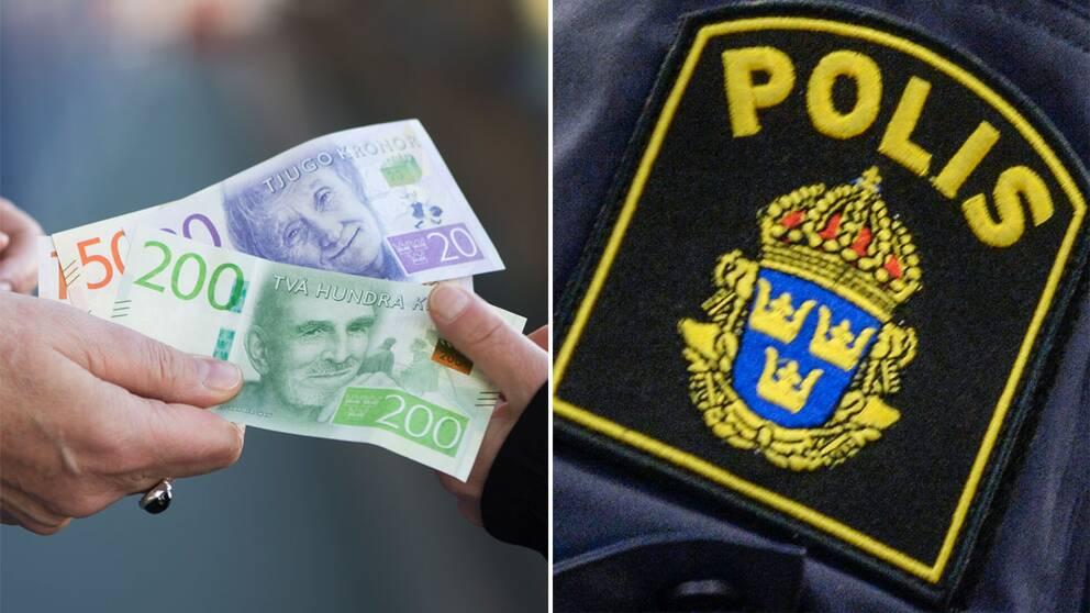 pengar bedrägeri polis