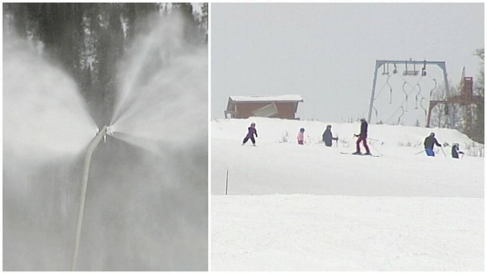 Mer konstsnö i slalombackarna
