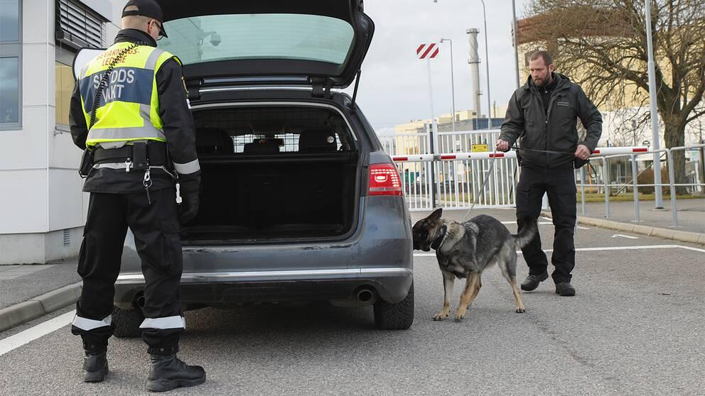 Skyddsvakter vid Ringhals kärnkraftverk Varberg.