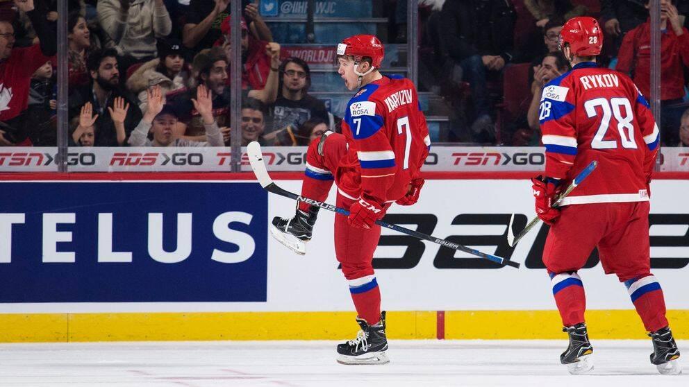 Kirill Kaprizov måljublar mot USA i semifinalen i JVM.