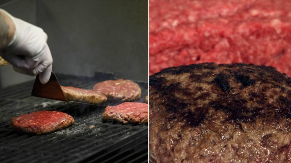 """Hamburgare serverade """"medium"""" kan vara farliga om köttet inte hanterats rätt innan det steks."""