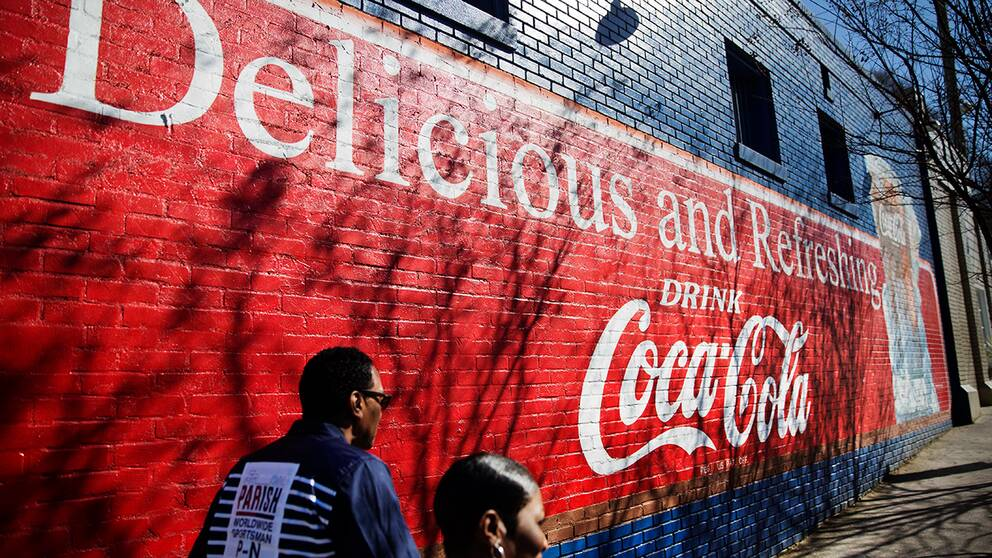 Coca-Cola-reklam i Atlanta, USA.