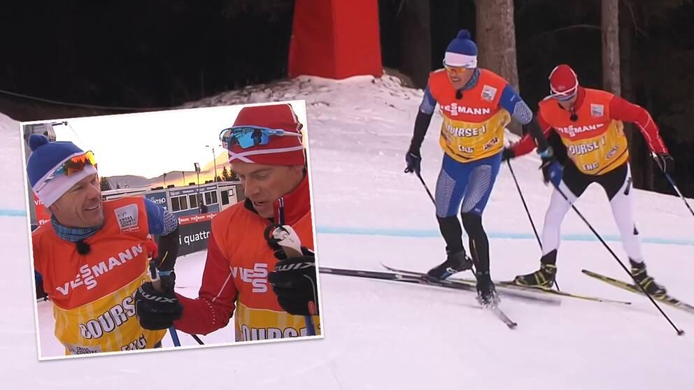 NRK vs SVT uppför finalbacken.
