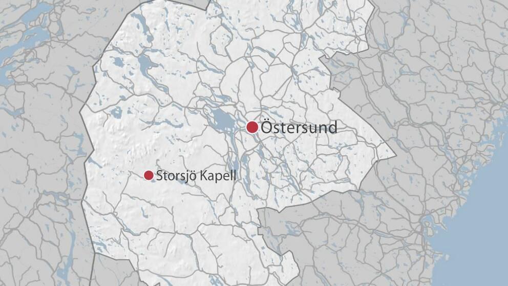 karta Storsjö Kapell