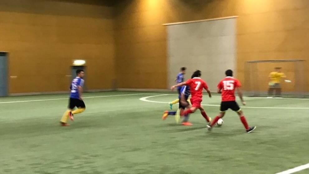 Fotbollsturnering för ensamkommande