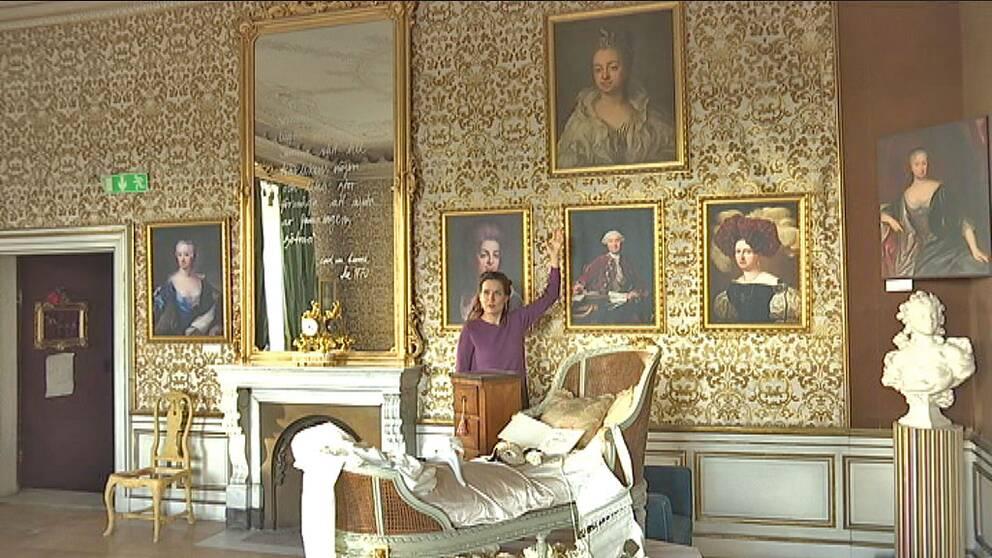 Alexandra von Schwerin vill möblera om i det skånska porträttgalleriet