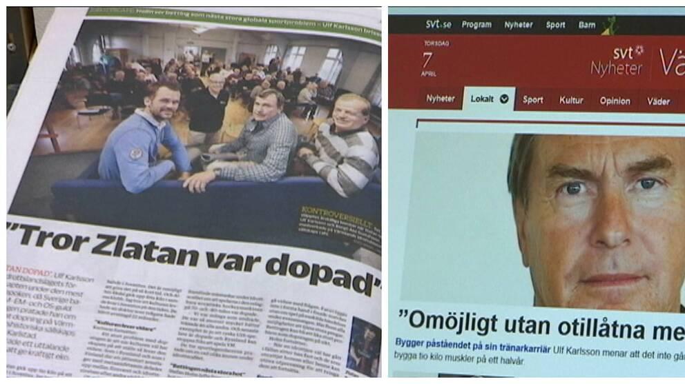 Artiklar från NWT och SVT Nyheter Värmland