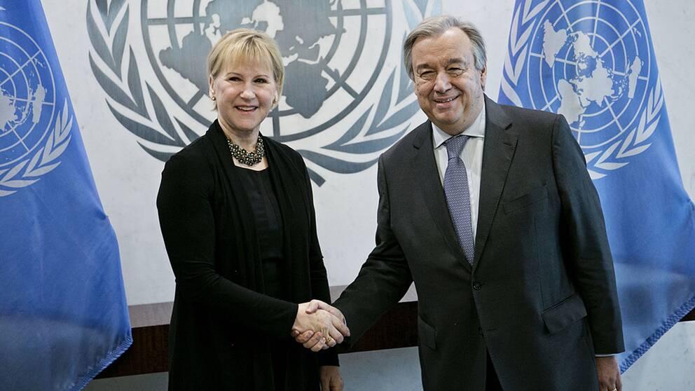 Margot Wallström och António Guterres.