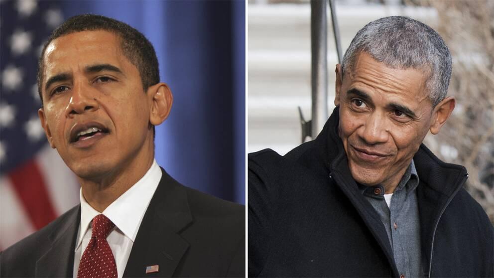 Barack Obama 2008 och 2016.
