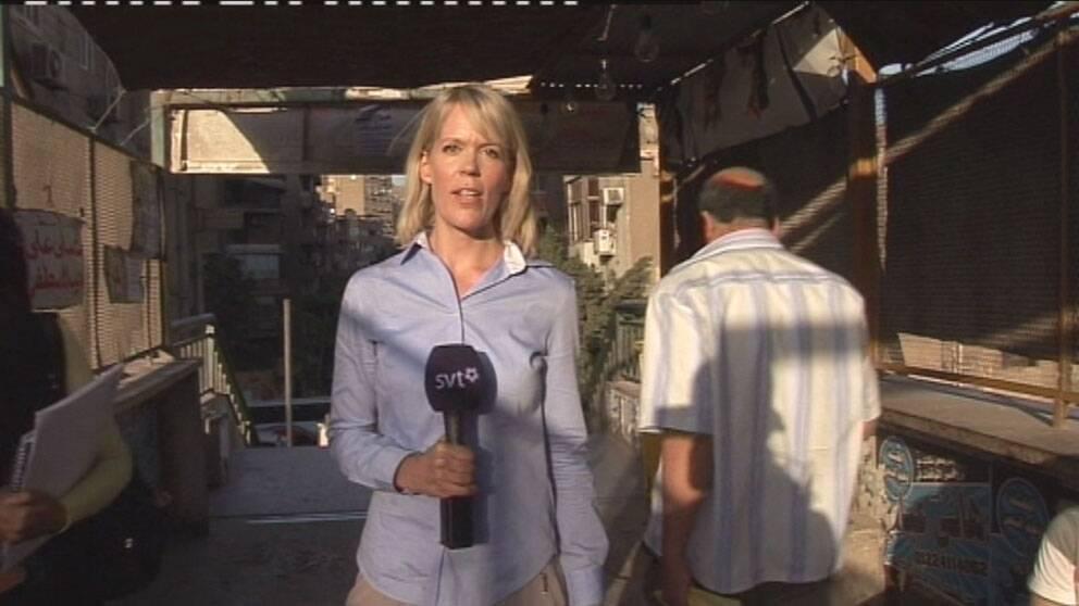 SVT:s korrespondent Stina Blomgren.