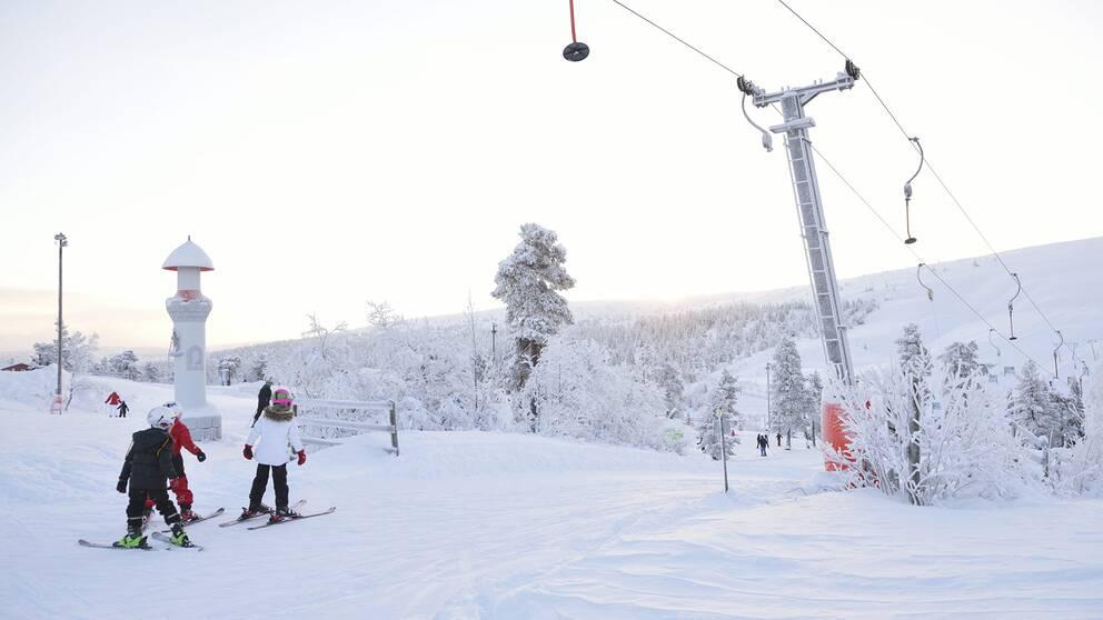 Skidlift, skidor, slalom, vinterturism
