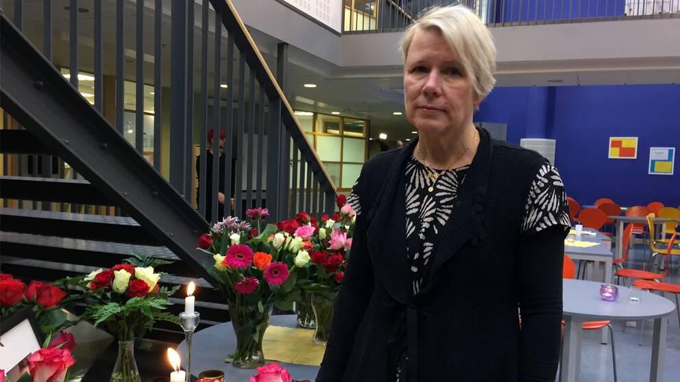 Marie Forslin, rektor på Kunskapsgymnasiet i Malmö