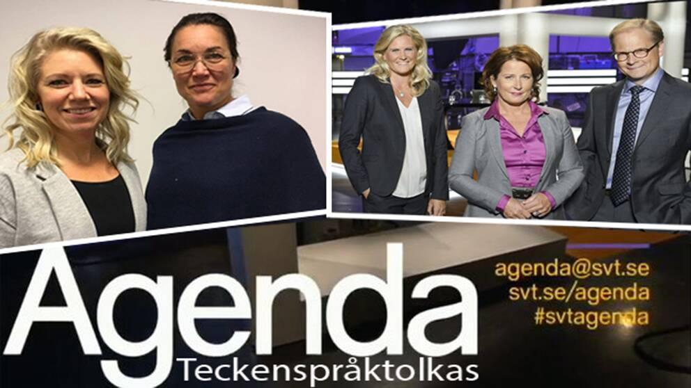 Agenda teckenspråkstolkas