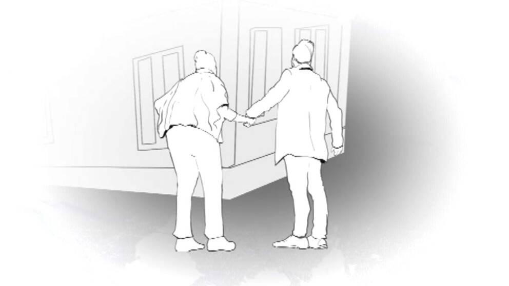 Illustration till hur läkaren ska ha lurat till sig ett hus.