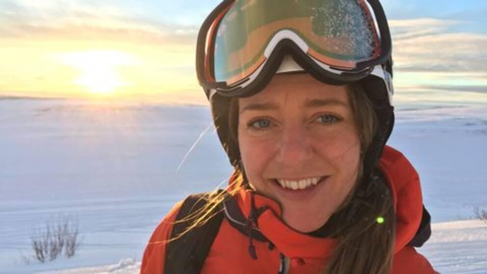 Lotten Rapp i skidorten Åre utanför Östersund.