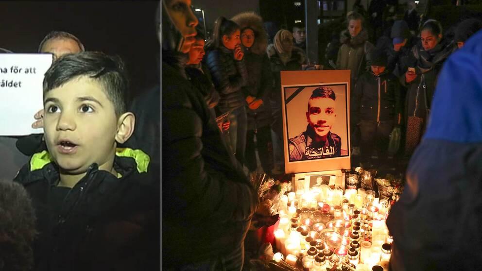 """Ali på manifestationen i Malmö efter dödsskjutningen: """"Alla barnen är rädda"""""""