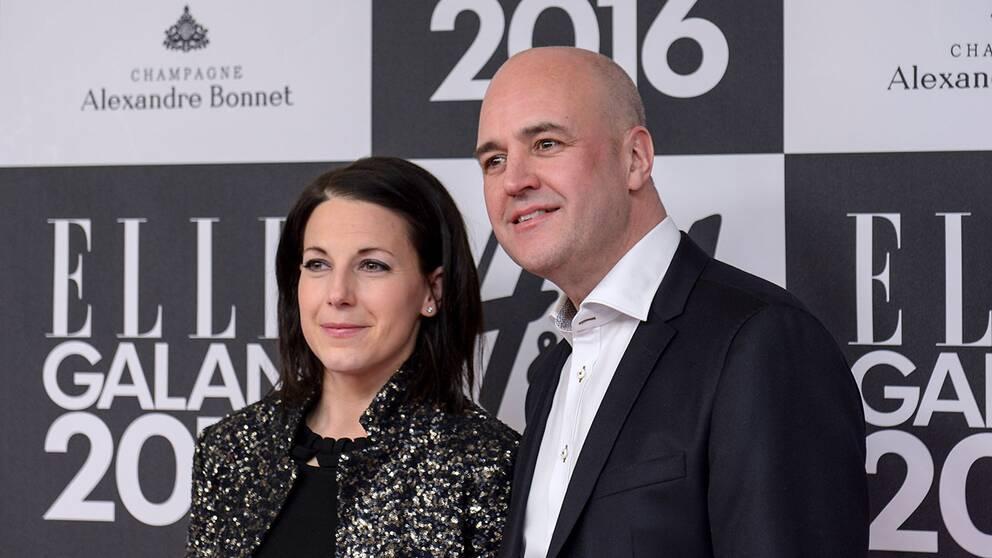 Roberta Alenius och Fredrik Reinfeldt på Ellegalan förra året.