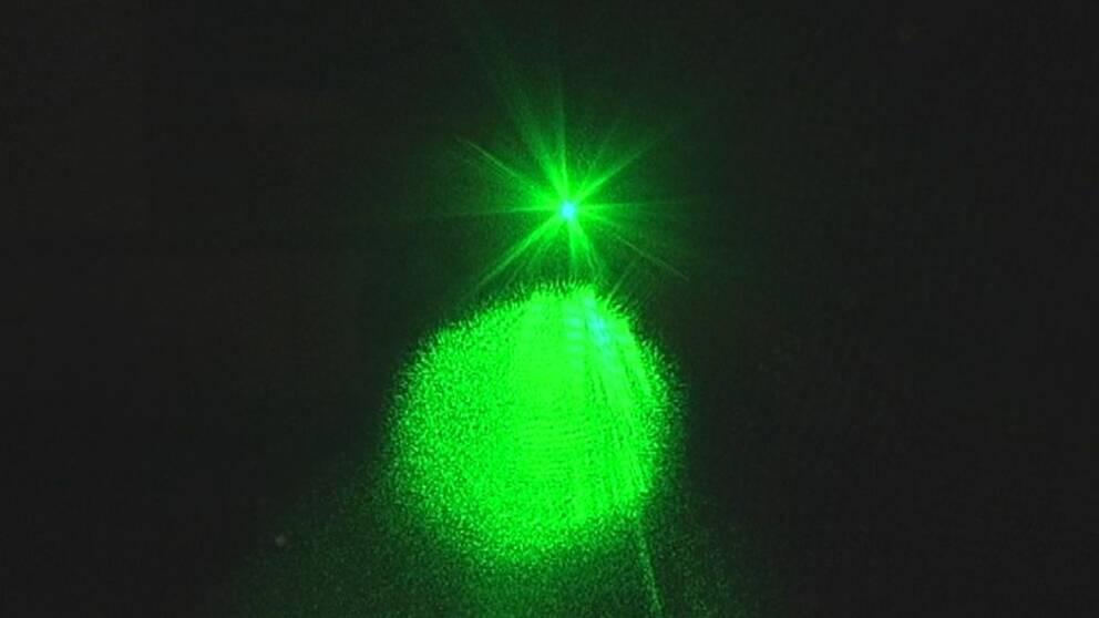 grön laser i ögat