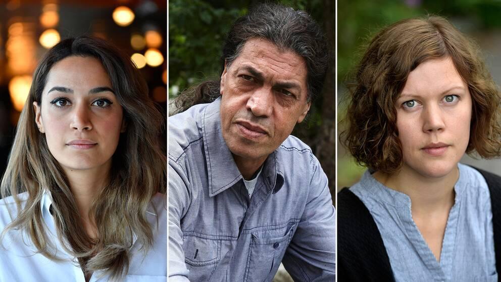 Från vänster: Regissörerna Rojda Sekersöz, Nima Sarvestani och Amanda Kernell.