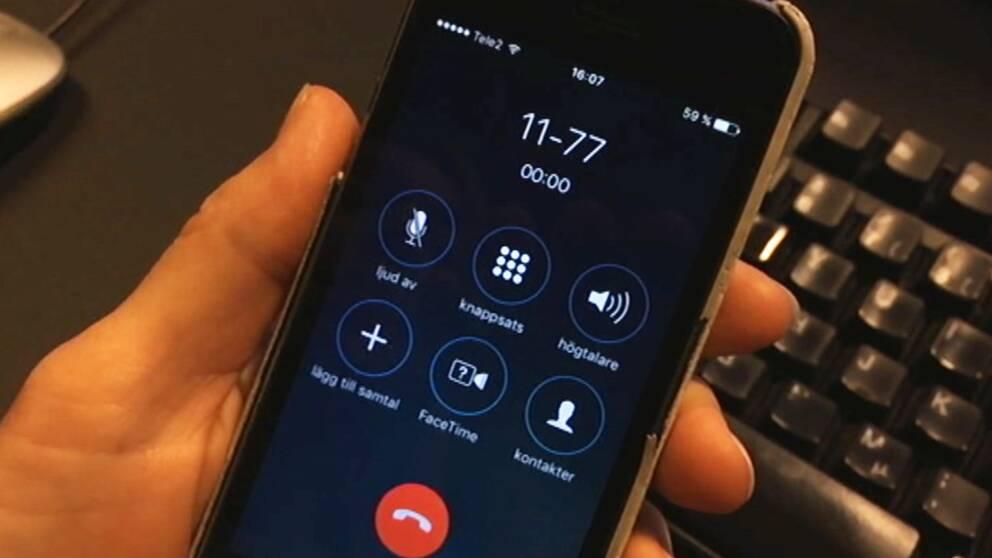 Telefon som ringer 1177