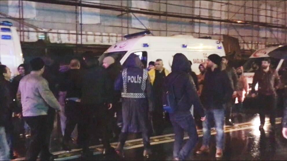 Polisen i Istanbul griper en man som misstänkt för terrordådet på nyårsnatten.