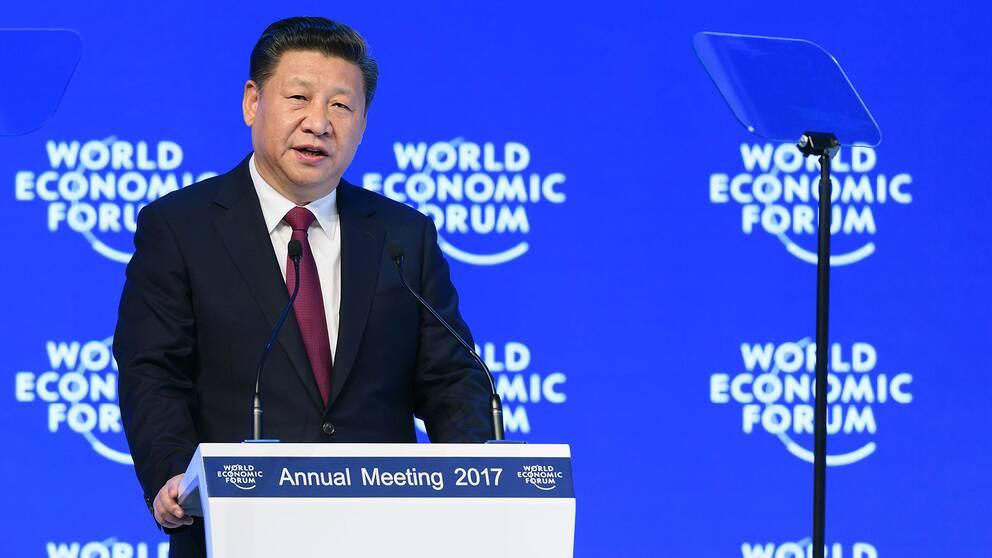 Kinas president Xi Jinpings tal vid Davos-mötet