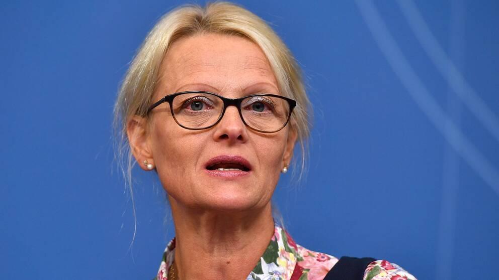 Nya migrationsministern Helene Fritzon (S).