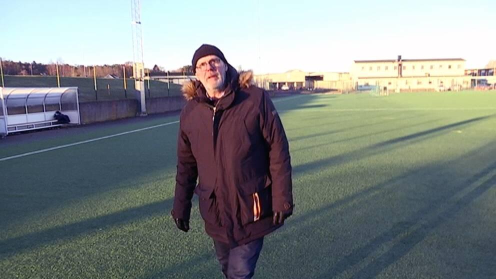 Ulf Asklund, enhetschef på Kungsbacka kommun, på Tingbergsvallen.