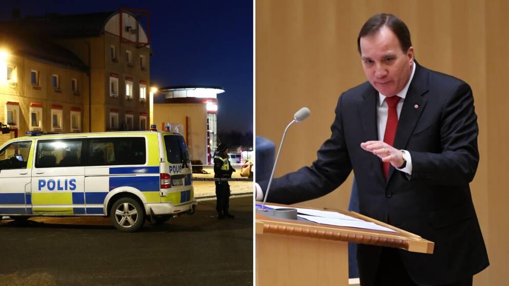 Trots svaga resultat har såväl Anders Ygeman som statsminister Stefan Löfven (S) försvarat polisens nya organisation.