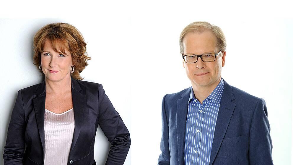 Anna Hedenmo och Mats Knutson leder partiledardebatten i Agenda