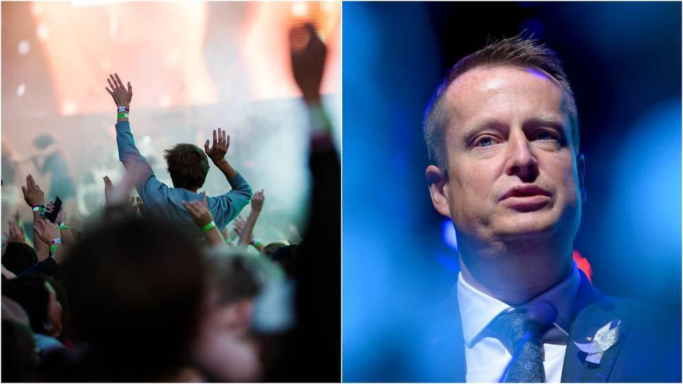 Bråvallafestivalen samt inrikesminister Anders Ygeman (S).