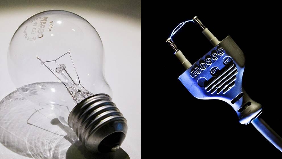 Lampa och kontakt