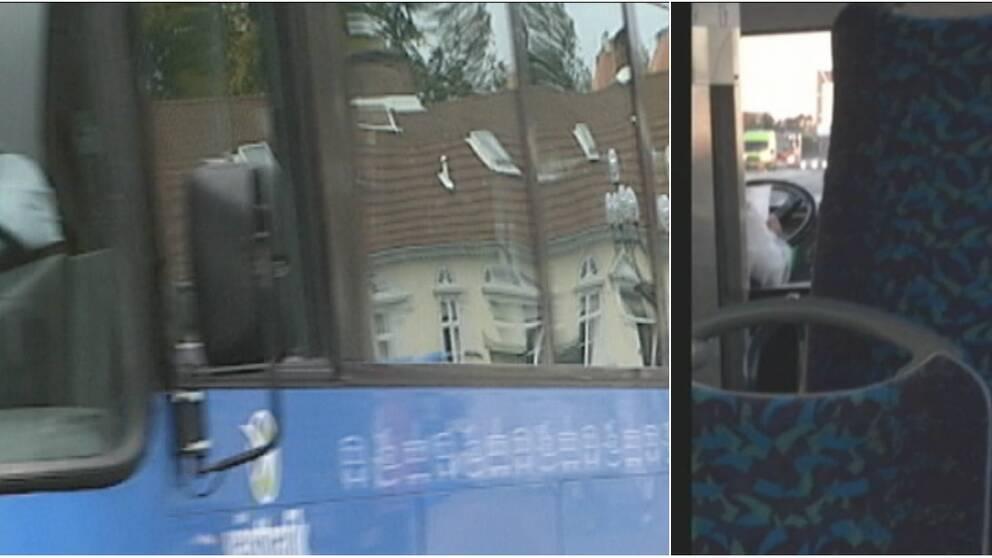 Ännu en av Västtrafiks busschaufförer har ägnat sig åt läsning under färd.