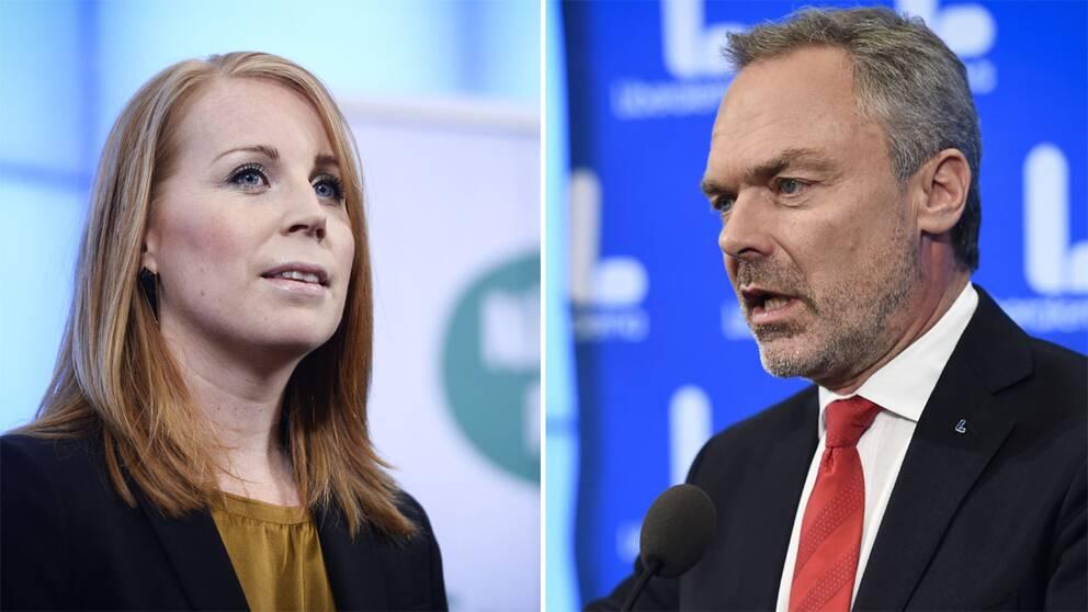 Annie Lööf och Jan Björklund.