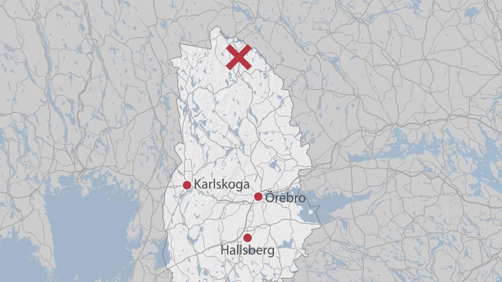 Mossgruvan ligger långt norrut i Örebro län.