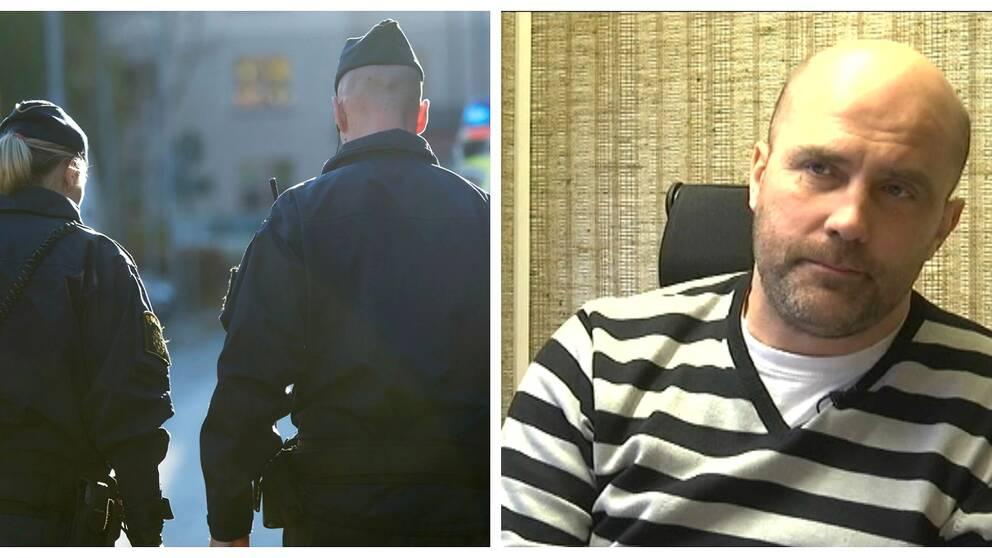 Före detta polis Glenn Gustafson