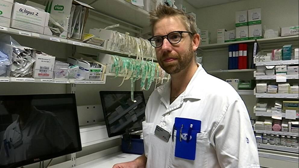Barnläkaren Martin Sturm på Länssjukhuset Ryhov i Jönköping.