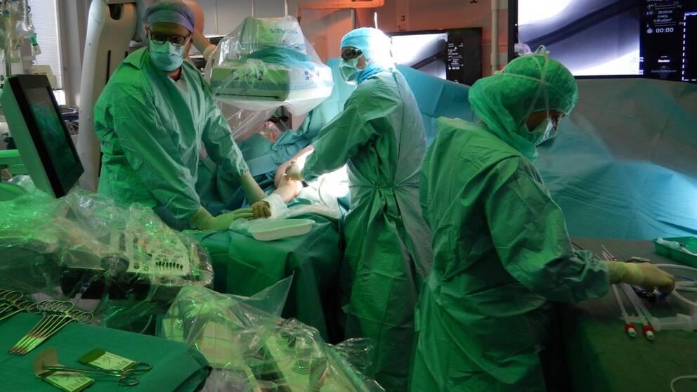 Patient opereras på Sahlgrenska