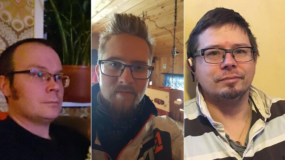 Thomas Jansson, Niklas Nilsson och Mathias Kristoffersson hann aldrig fram till BB innan barnen föddes.