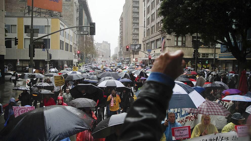 Demonstrationer i Los Angeles.