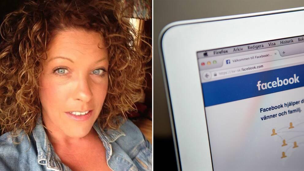 Linda Johansson blev vittne till våldtäkten som sändes på Facebook.