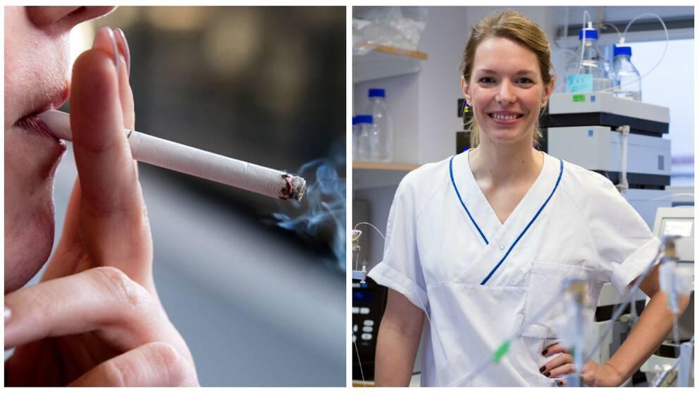 Rökare/ Julia Morud Lekholm, forskare Sahlgrenska Akademin