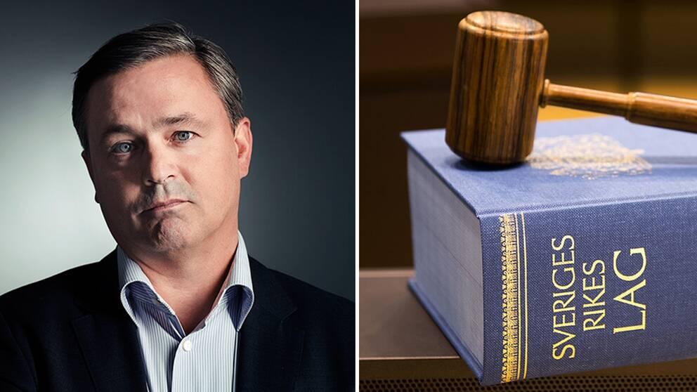 Advokat Stefan Wallin och lagbok
