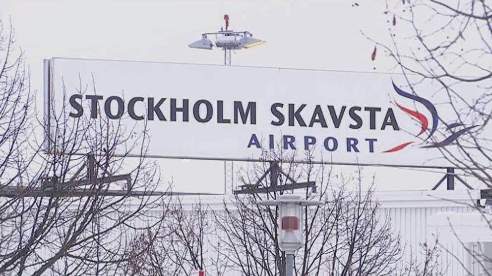Skavsta flygplats i Nyköping.